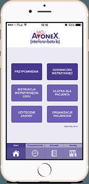 "Aplikacja mobilna ""Mój Avonex"""